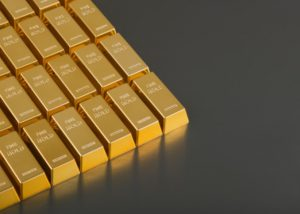 Lines of gold bars
