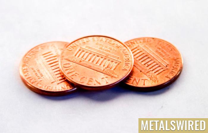 Row of pennies
