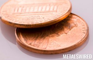 close up of two pennies