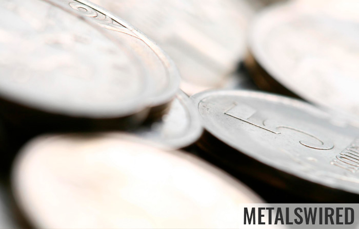 close up of silver coins